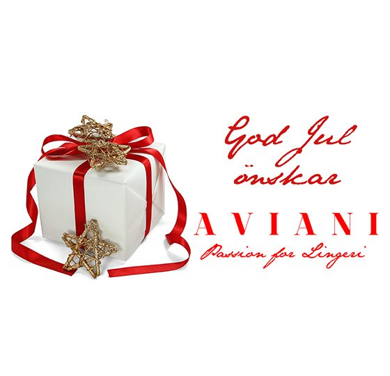 God Jul & Gott Nytt år önskar vi på A V I A N I – Passion for Lingerie